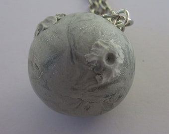 Moon Necklace polymer clay
