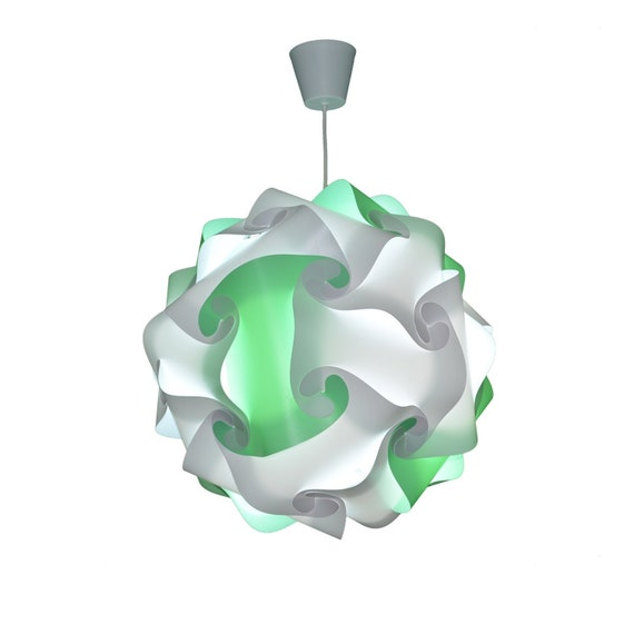 Modern lime green contemporary Pavilion e27 LED cord ready white luster CreativLamp Suspension ceiling ball lamp has plug