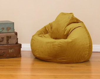 Remarkable Bean Bag Etsy Inzonedesignstudio Interior Chair Design Inzonedesignstudiocom