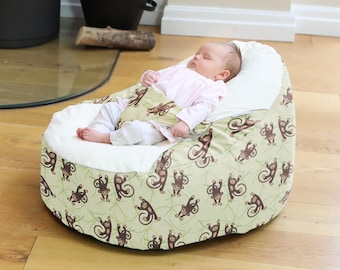 Black Zoo Animals Gaga Baby Beanbag