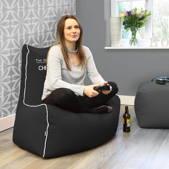 Pleasing The Gamer Bean Bag Chair Faux Leather Lamtechconsult Wood Chair Design Ideas Lamtechconsultcom