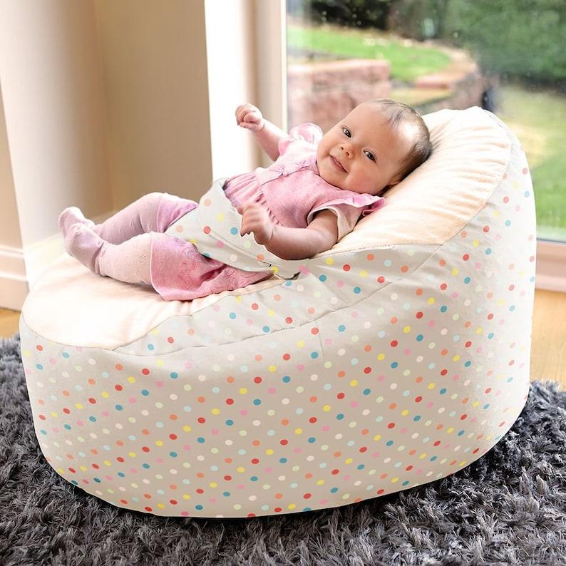 Strange Pastel Polka Dot Gaga Baby Bean Bag To Toddler Creativecarmelina Interior Chair Design Creativecarmelinacom