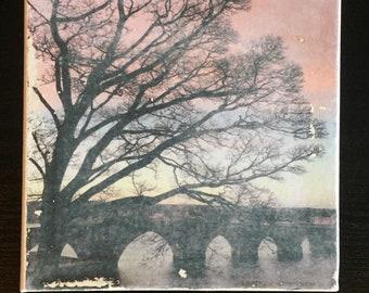 Winter sunrise landscape photographic art work