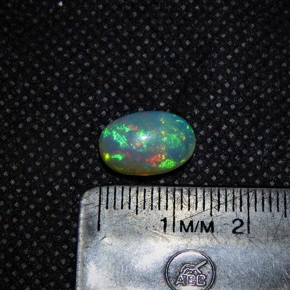 3.2 éthiopien Carat Naturel Incroyable Qualité éthiopien 3.2 Welo Opale Gemme Multi Couleur Feu En vrac Cabochon 13x9 mm ovale Forme E#218-21 adba1a