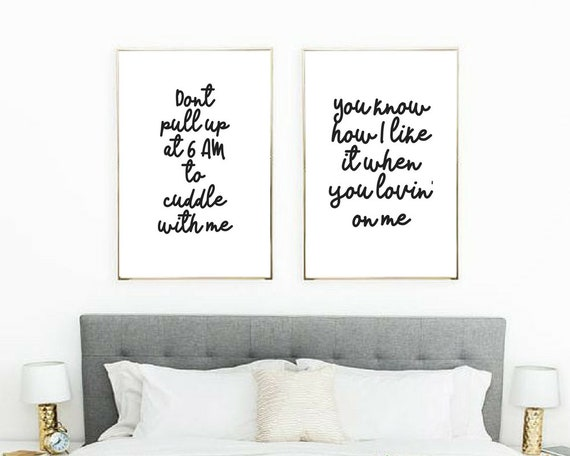 drake posters // bedroom art prints // above bed posters // hip hop posters  // lyrical art print // love posters // love quote wall print