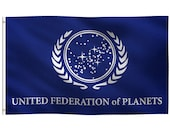 3x5 Foot United Federation of Planets Flag - 100 Polyester Banner w Canvas Header - For Bedroom, Living Room Wall Decor, Indoor Outdoor