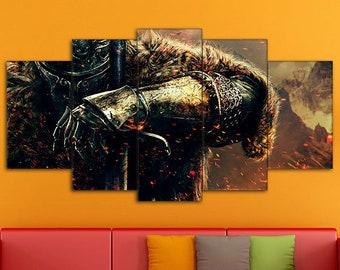 Dark Souls, Dark Souls Art, Dark Souls Canvas, Dark Souls Print, Action/RPG Art, Dark Souls Wall Art, Games Canvas, Dark Souls wall decor