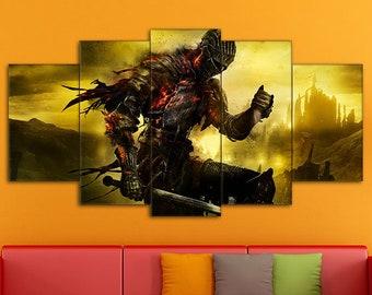 Dark Souls Canvas, Dark Souls Print, Action/RPG Art, Dark Souls Wall Art, Dark Souls, Games Canvas, Dark Souls Art, Dark Souls wall decor