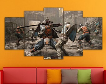 Samurai canvas, For Honor art, Samurai art, Samurai print, For Honor canvas, For Honor print, For Honor Samurai, For Honor, Video Games