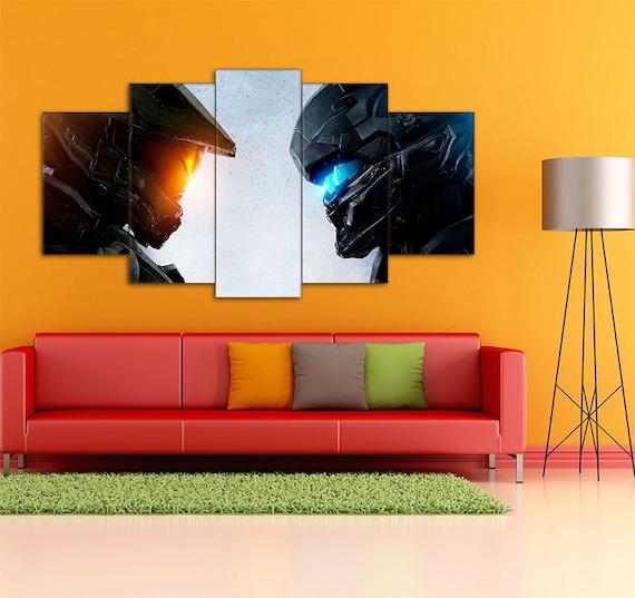 Halo 5 Halo 5 art Halo 5 print Halo 5 canvas Halo 5 wall   Etsy