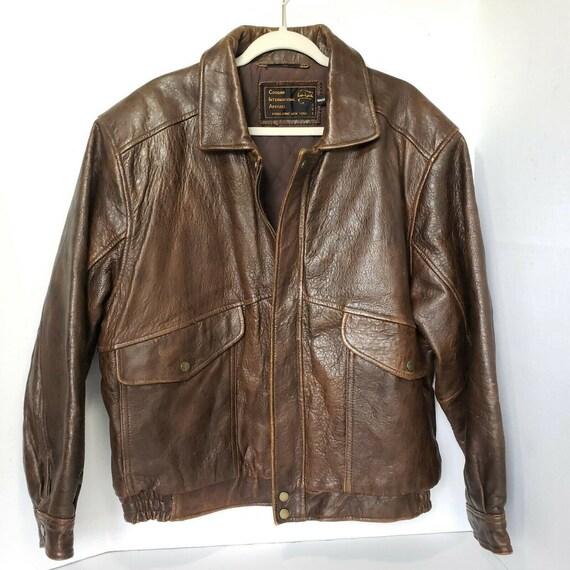 Vintage Cougar International Apparel Brown Leather