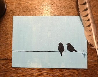 Love Birds on a Line