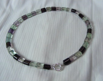 Natural Fluorite 50cm necklace