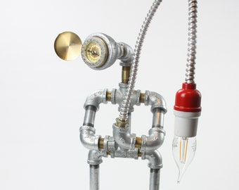 Gone Fishing Pipe Lamp Bot