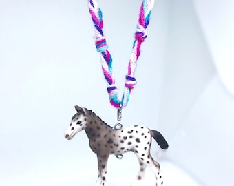 Awesome Appaloosa Necklace! Absolutely Adorable! Purple Turquoise Pink! Colorful!