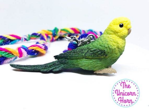 Parakeet Budgie Green Realistic Double-Sided Acrylic Hook Earrings Jewelry