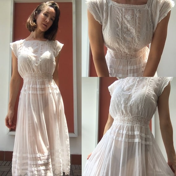 Vintage white sheer petticoat - image 3