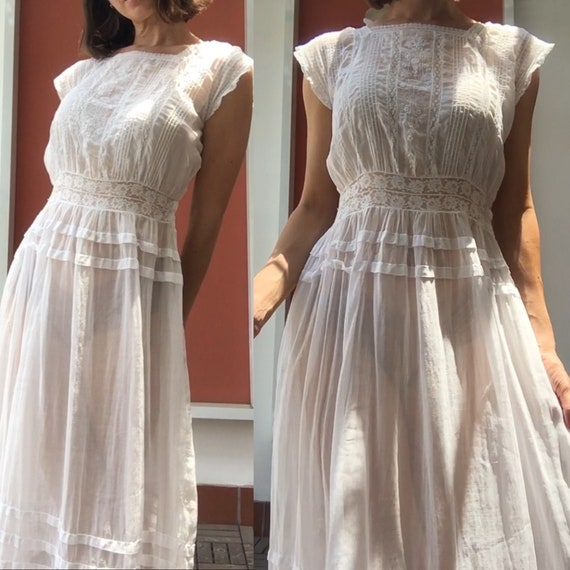 Vintage white sheer petticoat - image 4