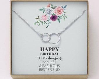 Best Friend Birthday Gift O Interlocking Circles Necklace Jewelry For Friends HerMinimal