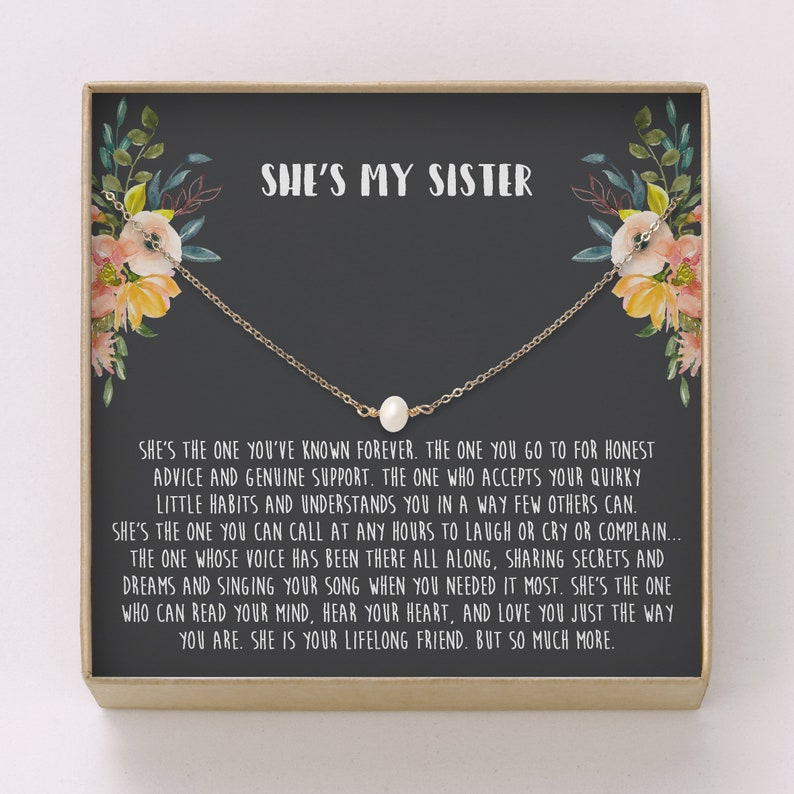 Sister Gift Pearl Link Necklace Sisters Necklace Gift Etsy