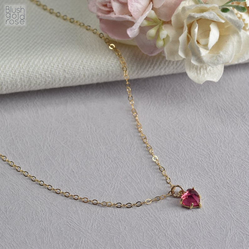Daughter Necklace \u2022 Tiny Fuchsia Heart Necklace \u2022 Daughter Jewelry Gift \u2022 Daughter Gift \u2022 Daughter Birthday D13a Christmas Gift