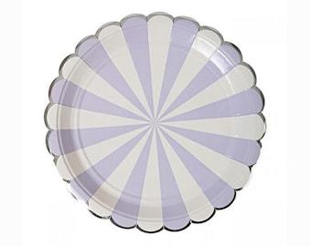 "Purple Carnival 7"" Paper Plate"