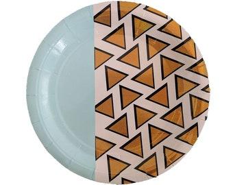 "Gold Fancy 9"" Paper Plate"