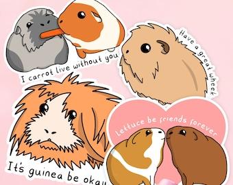 Guinea Pig Stickers Set, Guinea Pig Birthday Gift, Guinea Pig Laptop Decal, Guinea Pig Gifts, Father's Day Guinea Pig Gifts, Pet Gifts