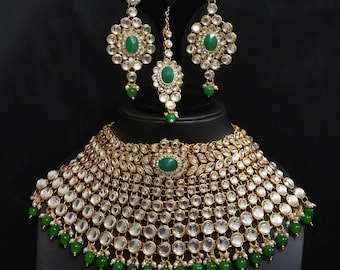 243dfba222 Indian Bridal Jewelry Wedding Party Gift Heavy Kundan Set New Design royal  Look Engagement Ethnic Bollywood Designer Traditional NEW Uk