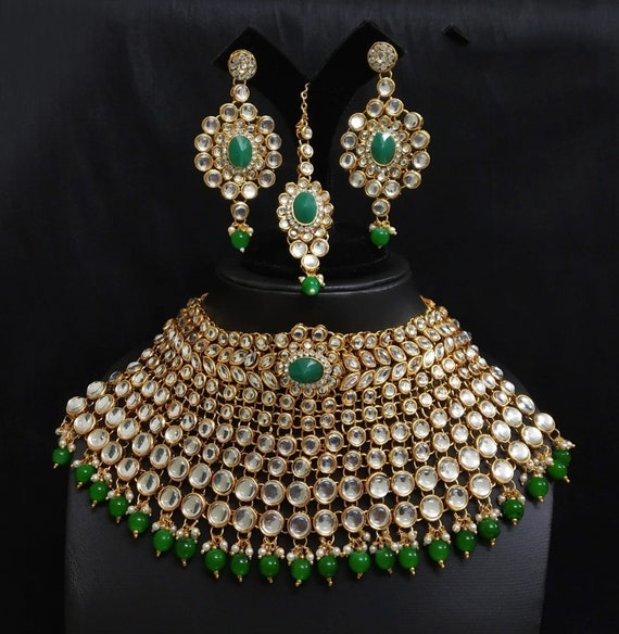 Indian Bridal Jewelry Wedding Party Gift Heavy Kundan Set New Etsy
