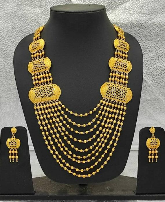 Indian Jewelry Wedding Bridal Fashion Kundan Crystal Necklace Earring Set OJ 241