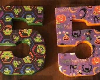 Custom designed wooden numbers