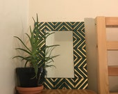Custom Chevron Silver Leafed Mirror