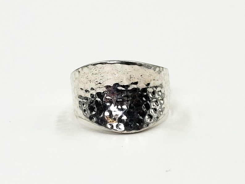Sterling Silver Hammered Ring Band
