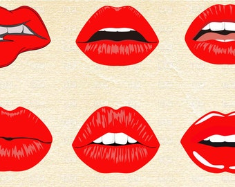 photograph relating to Mouth Printable called Lips printable Etsy