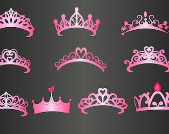 princess crown svg etsy