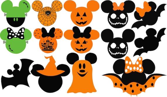 14 X Mickey Halloween Faces Minnie Halloween Disney Etsy