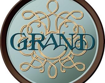 "Grand - 4"" Vinyl Decal"