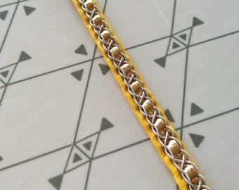 Leather bracelet native style