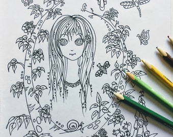 Cherry and Friends is a printable colouring page