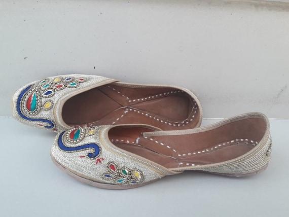 peacock Punjabi jutti khussa shoes indian shoes mojari flip flop sandal slipper flat shoes wedding shoes bridal shoes fancy women shoes juti