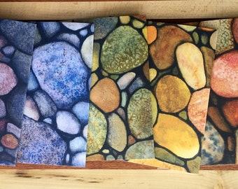 Watercolor Rocks Notecard Pack