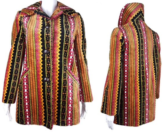 Vintage 60's   Tregos Westwear Chenille   Tapestry