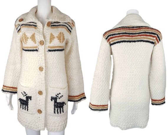 Vintage 90's Leroy Knitwear | Knitted Mohair Stag/