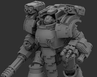 "Forgeborn Ancient ""Redemptus"" Dreadnought - 28/30mm - WH30k/40k compatible - Model kit"