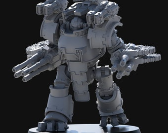 """Forgeborn Ancient """"Colossus Alpha"""" Dreadnought - 28/30mm - WH30k/40k compatible - Model kit"""