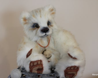 Artist teddy bear, handmade teddy bear, collectible teddy bear, Moonlight 35 cm