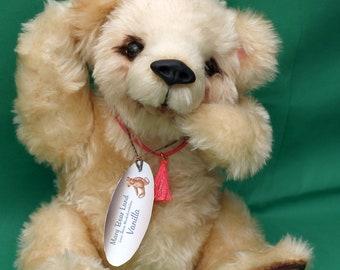 Artist teddy bear, handmade, stuffed toy ,collectible bear - Vanilla