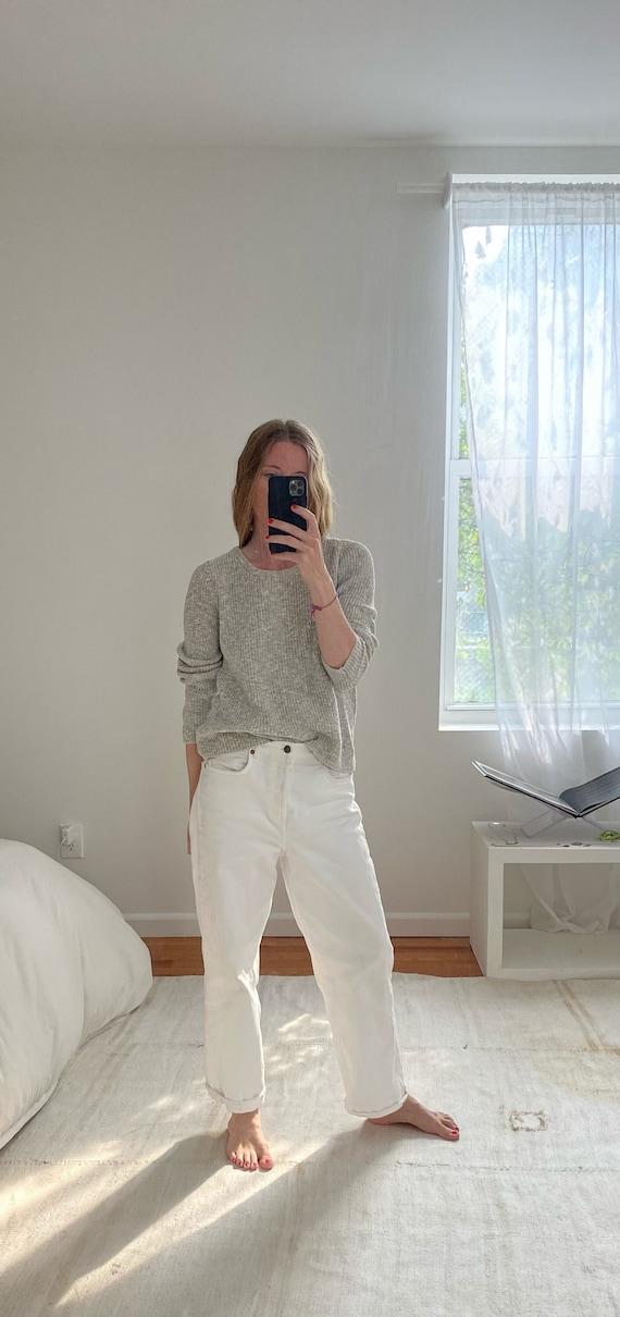 1990s Light Grey L.L. Bean Sweater