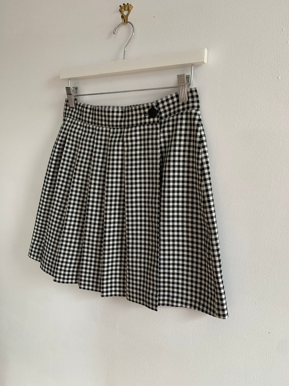 1990s Checkered Skirt
